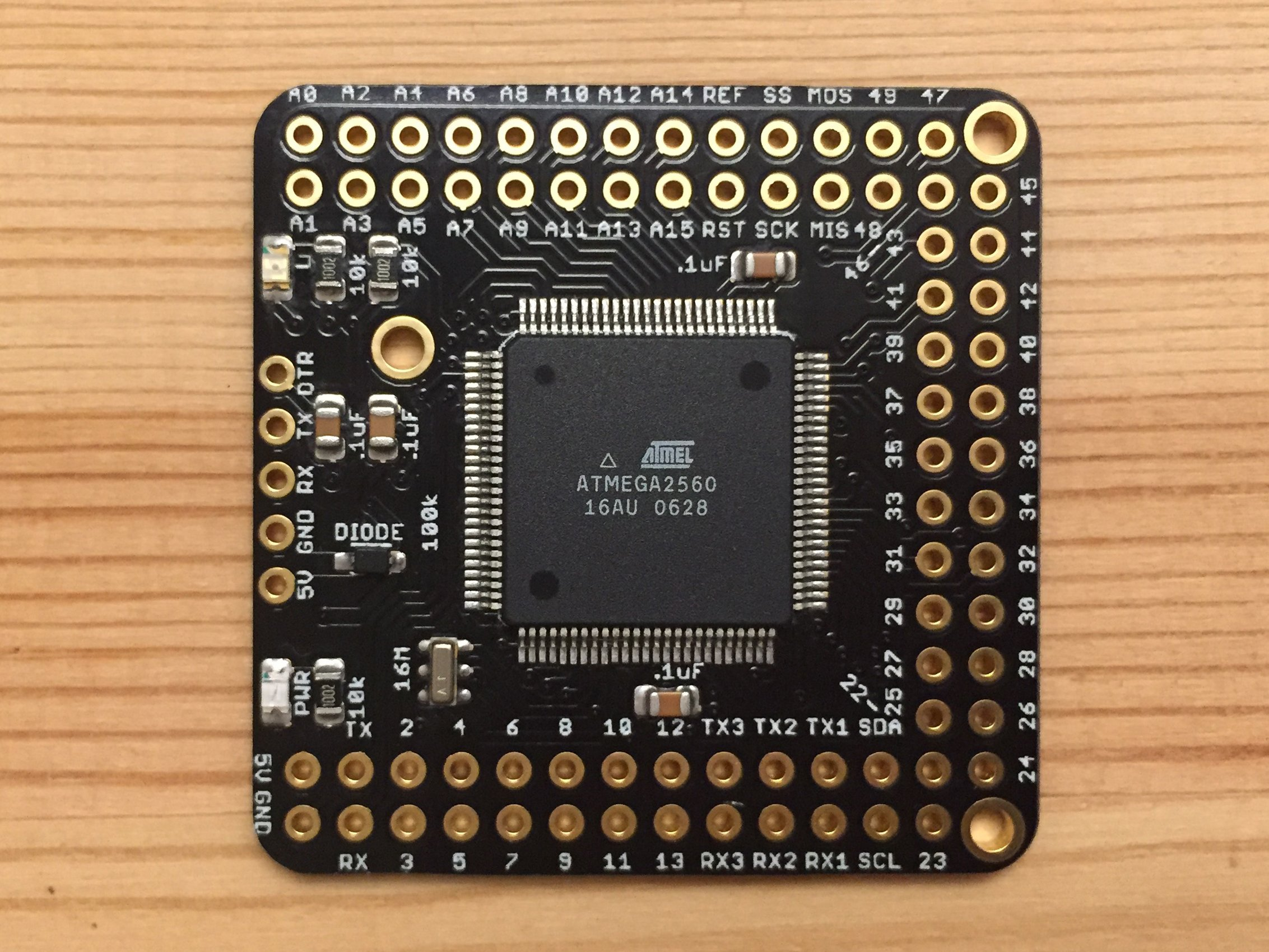 Naked mega an arduino compatible board from
