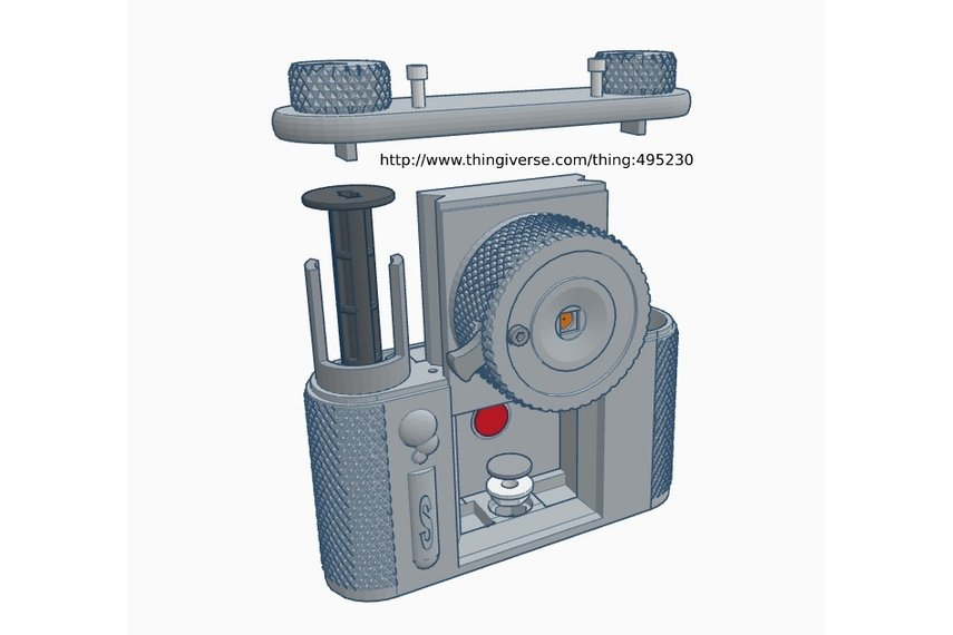 terraPin 3Dprinted Pinhole Camera (6X6 format)