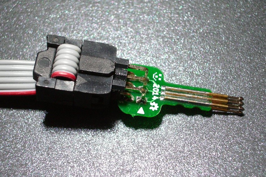Tiny AVR-ISP pogo-pin programming adapter