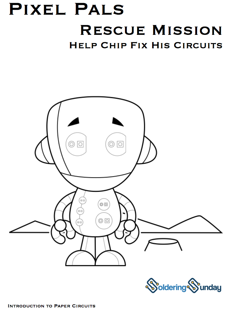 circuit workbook for kids from solderingsunday on tindie