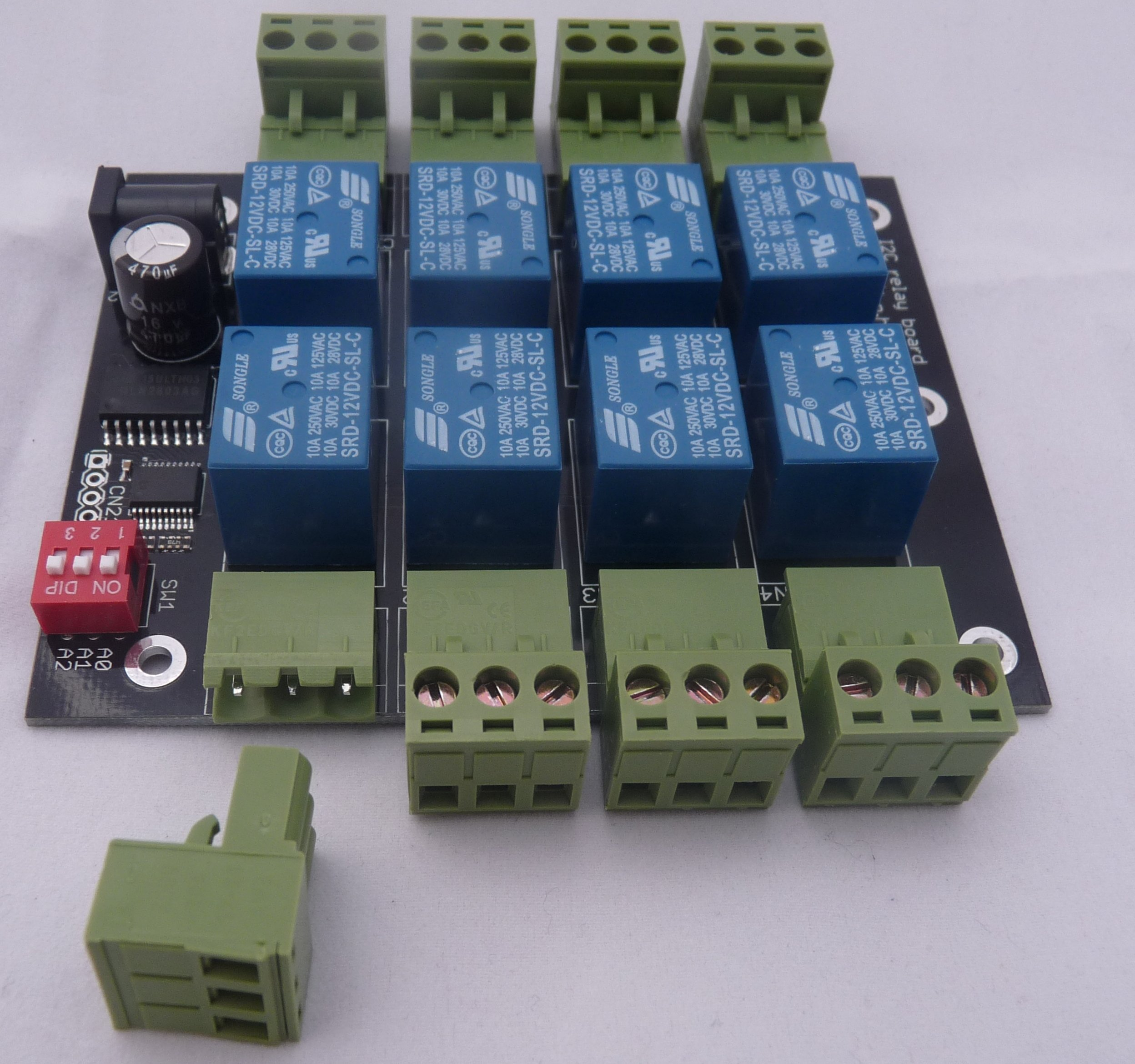 how to connect raspberry pi to 8 channel relay