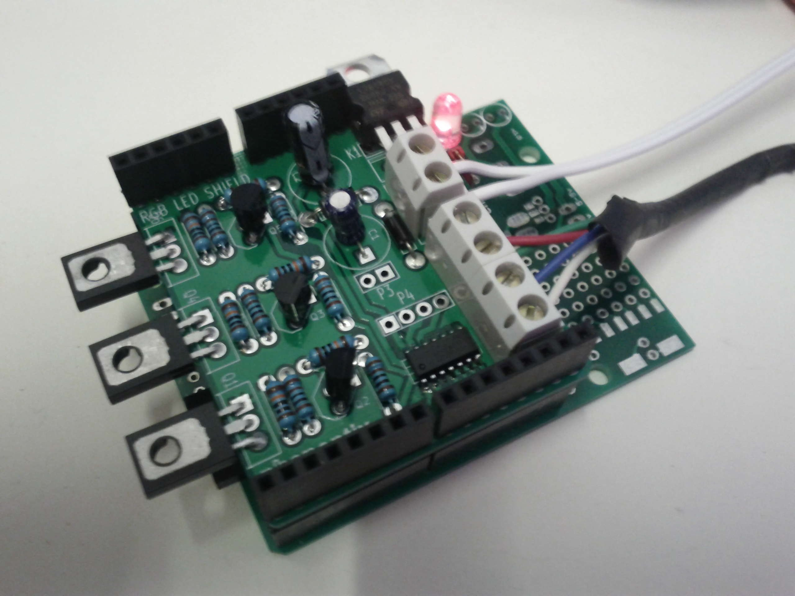 Rgb led arduino shield from reinnovation on tindie