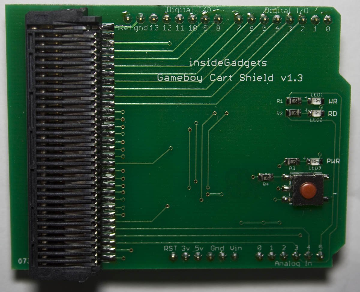 Gameboy cart shield from insidegadgets on tindie