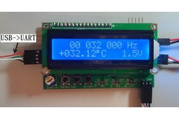 60MHz LCD Frequency Counter Module & IF Offset