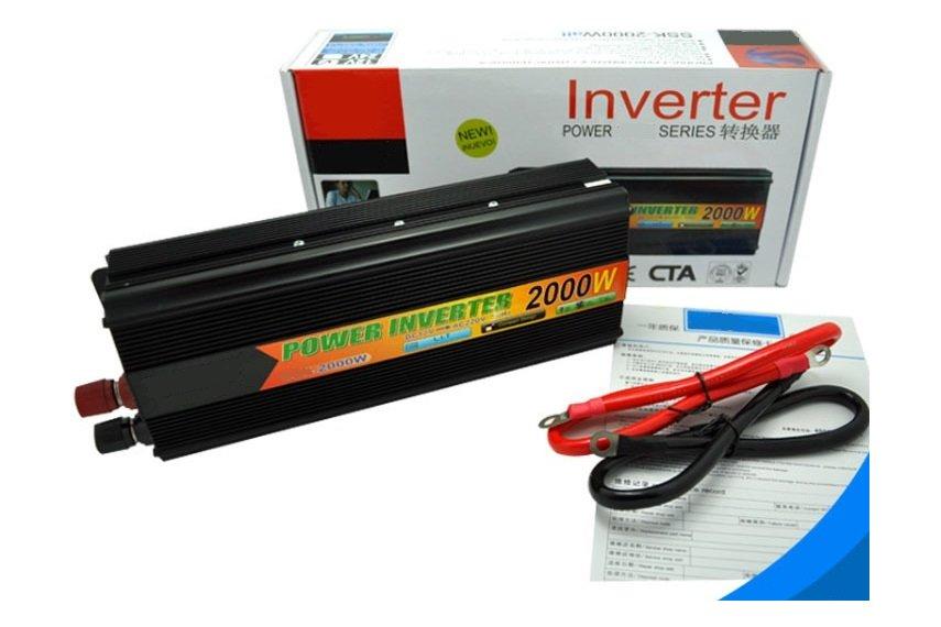 sine wave inverter 12v to 220v ac 50hz 2kw max from power. Black Bedroom Furniture Sets. Home Design Ideas