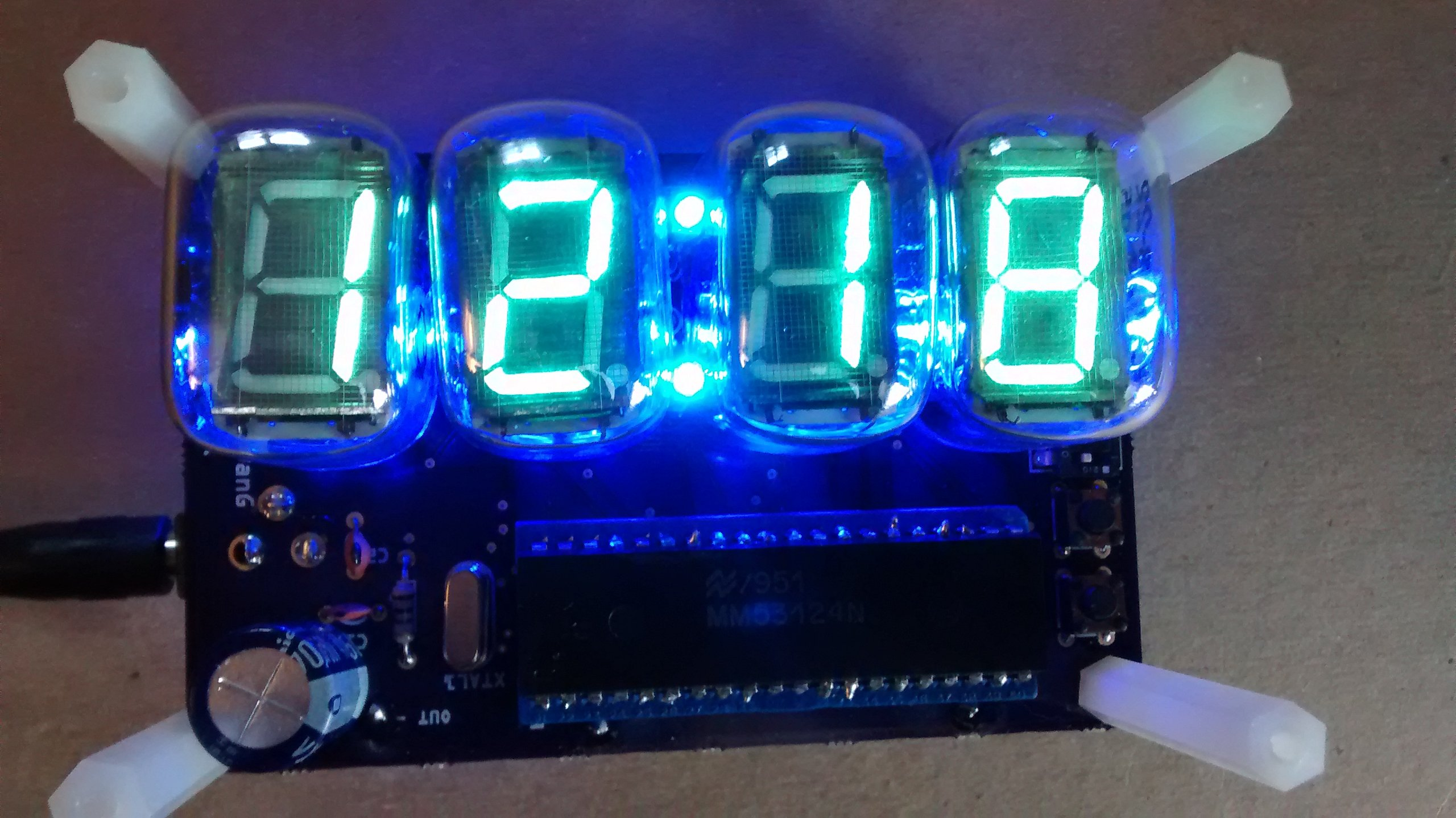 Vacuum Fluorescent Tube Clockdiy Russian Propellerpowered In12 Nixie Clock Dr Scott M Baker Iv 22 Display Partial Kit From