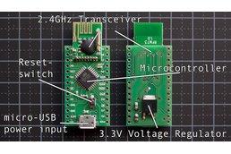 Radioduino: Arduino clone w/ 2.4G wireless transceiver
