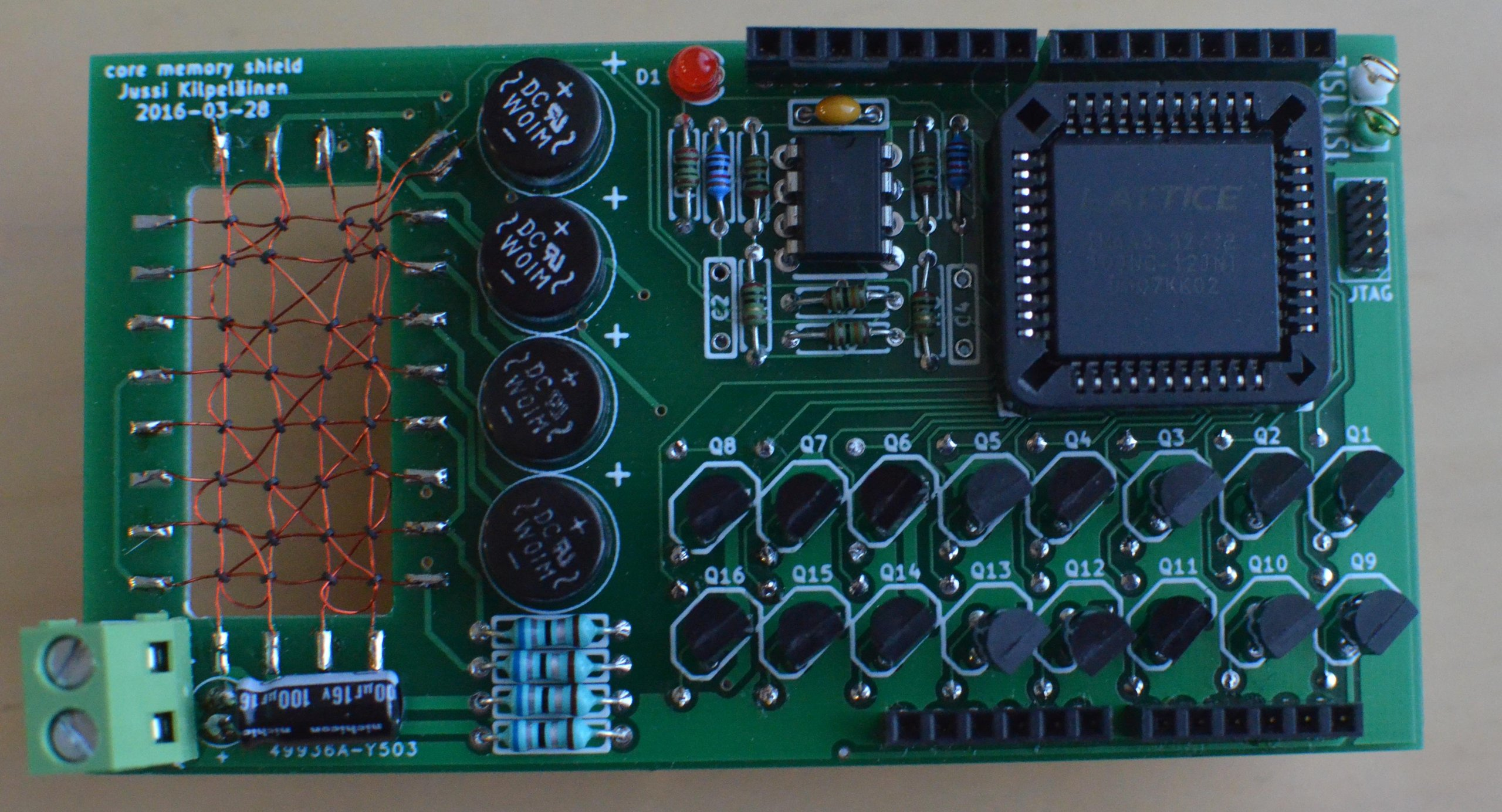 Core memory shield for arduino from kilpelaj on tindie