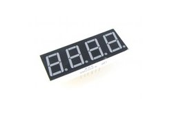 7 Segment 4 digit White LED Display: Common Cathode (0.56in)