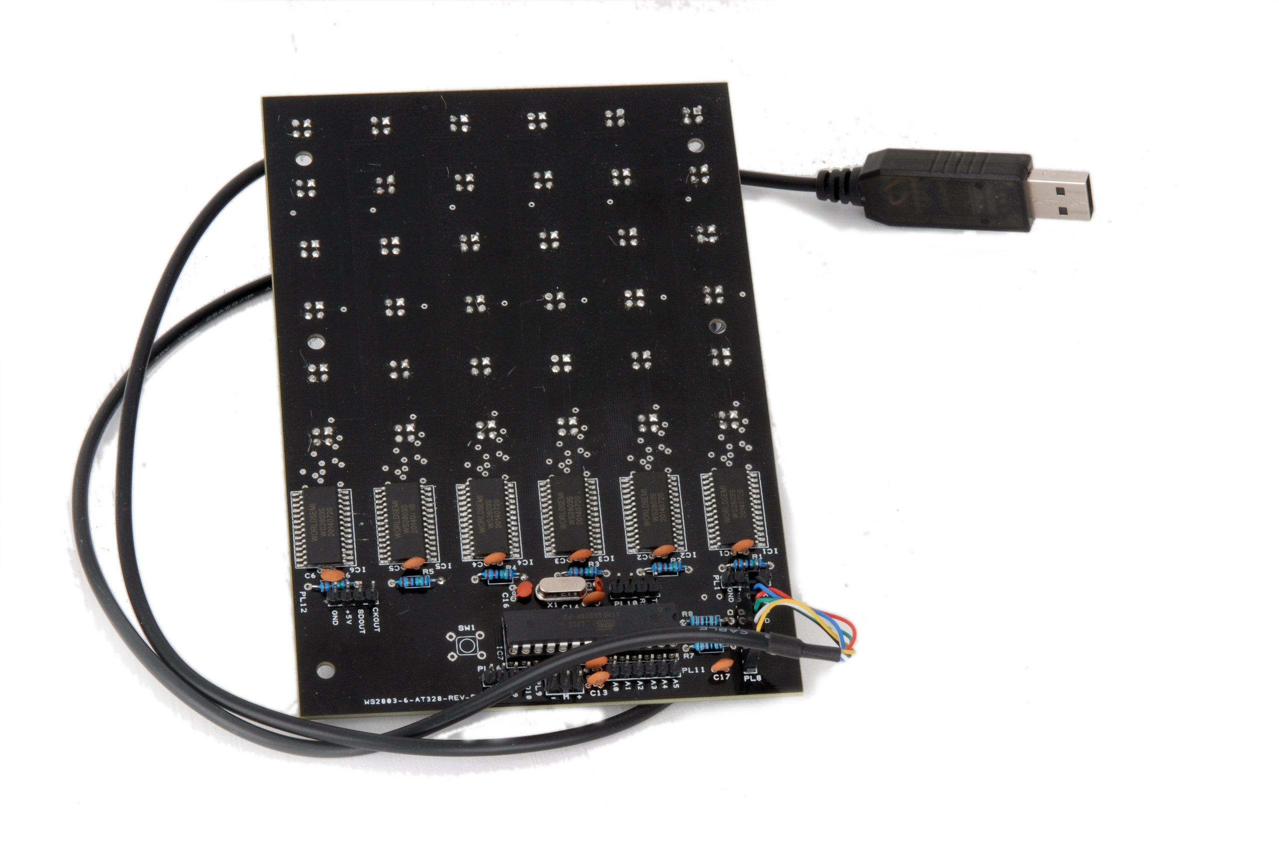 Led matrix module rgb ws with