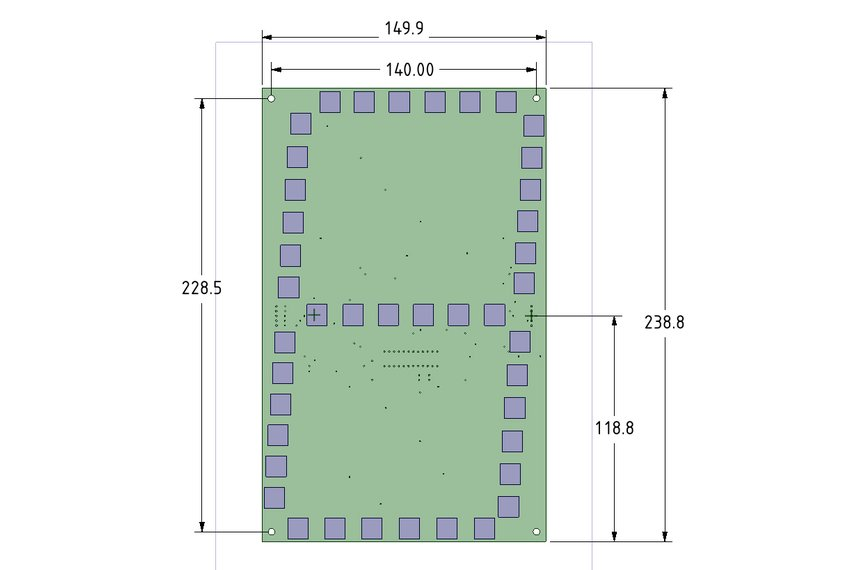 "LARGE 7 SEGMENT (10""-250mm) DISPLAY PCB - ARDUINO"