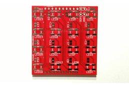 WS2812B (WS2811/5050) RGB LED 4x4 Matrix Booster Pack PCB