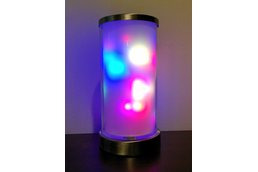 Torch - cylindrical colorful light art display