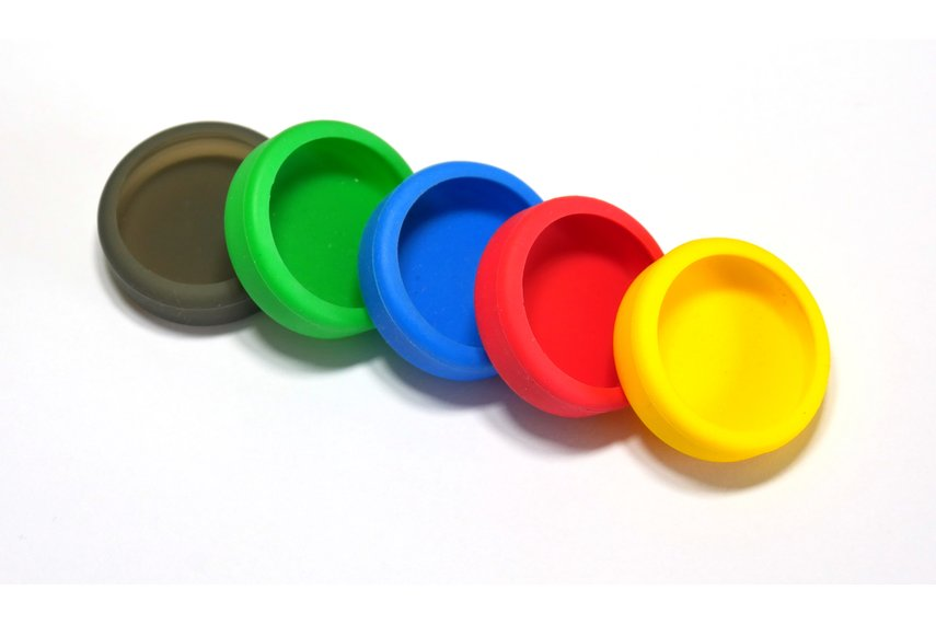 Puck.js cases (Black, Red, Yellow, Green, Blue)