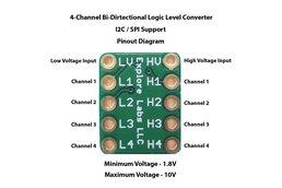 4-Channel Bi-Directional Logic Level Converter
