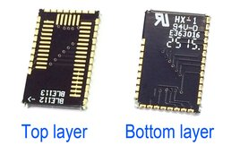 Bluegiga BLE112 to BLE113 footprint adapter