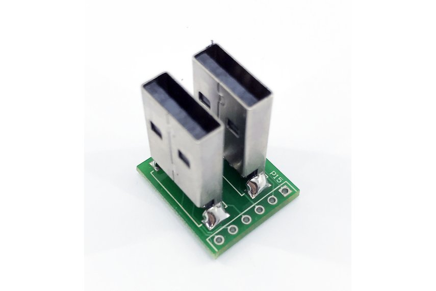 Dual USB male header plug breakout