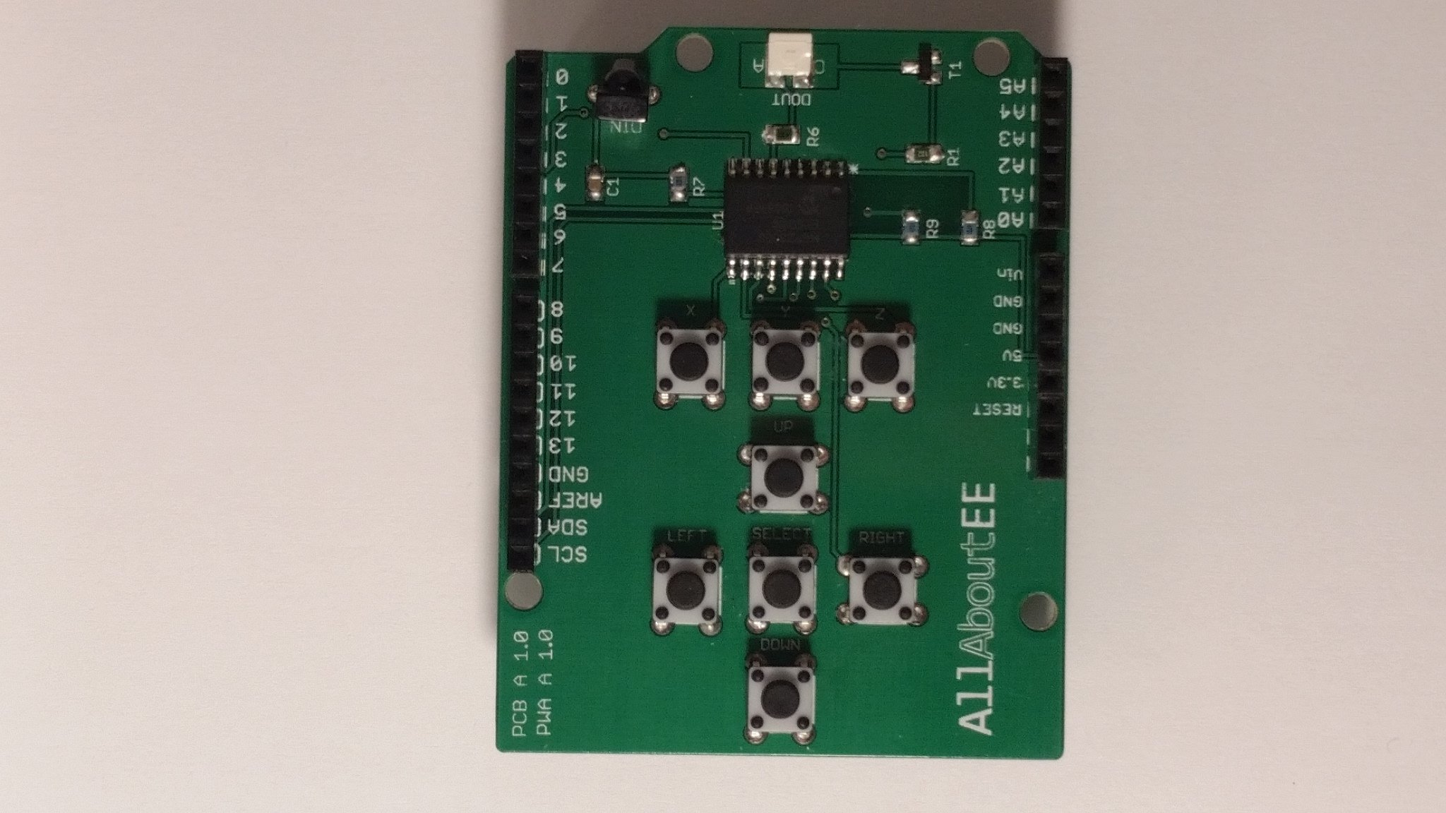 Infrared remote control shield for arduino from allaboutee