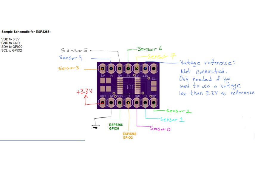 ESP8266 Analog Inputs Expander (Version 2)
