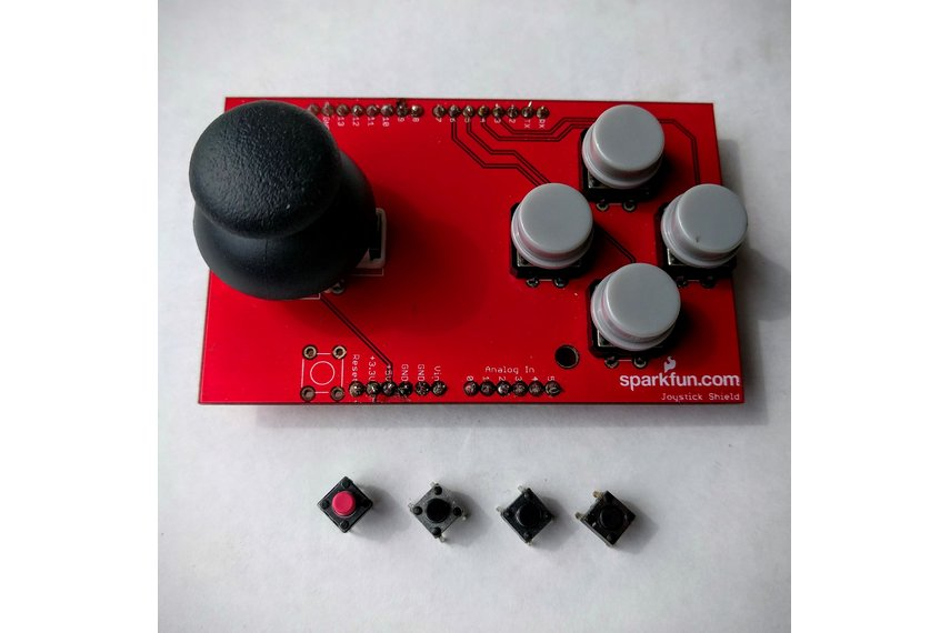Preassembled Sparkfun Joystick Shield