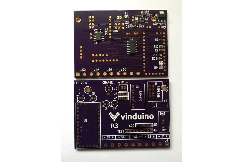 SMD Component-Only Version of Vinduino R3 board