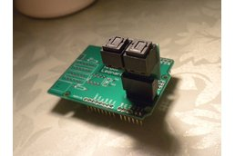 Optical UART Shield for Arduino Leonardo (M120v1)