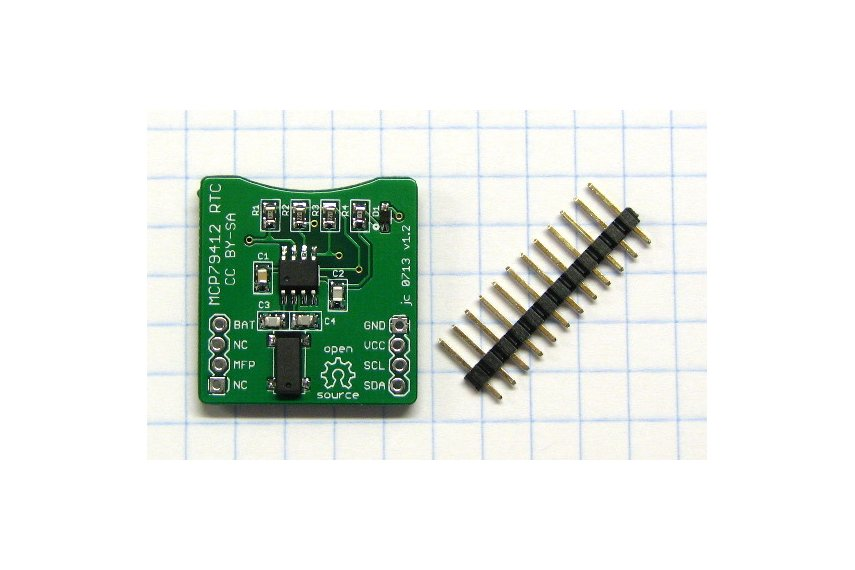 MCP79411/MCP79412 Real-Time Clock/Calendar Breakout Board