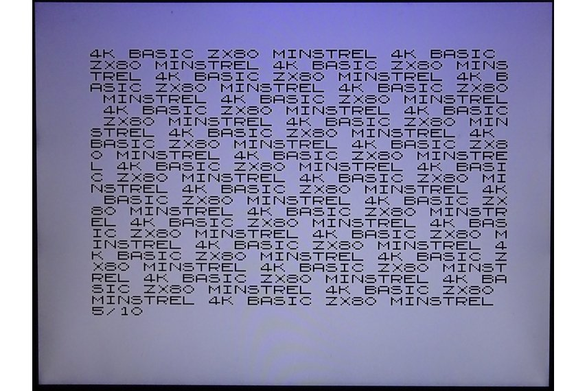 Minstrel ZX80 Clone Open version