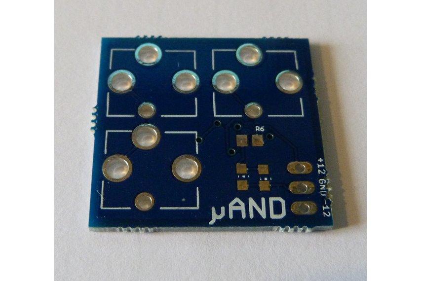 μAND - Transistor AND for Eurorack tile systems