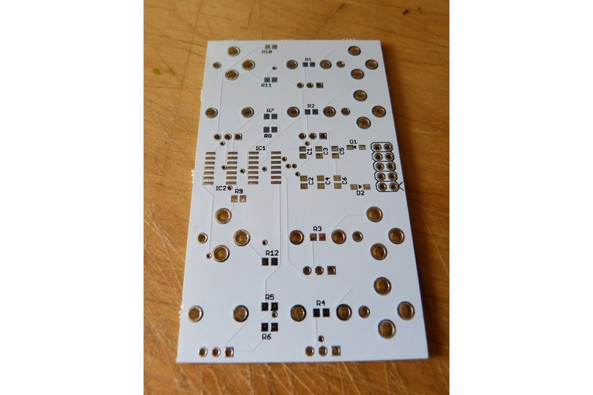 XFDR - two-channel crossfader/mixer PCB