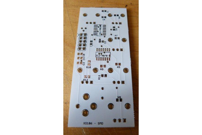 XO106 rev 3 - Square-wave drone generator PCB