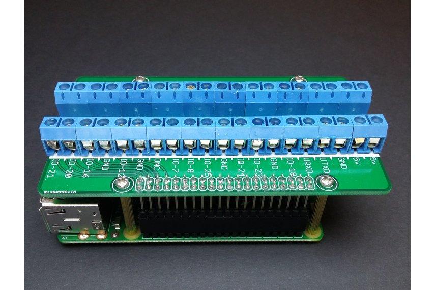 Screw Terminal Shield for Raspberry Pi (2B, 3B)