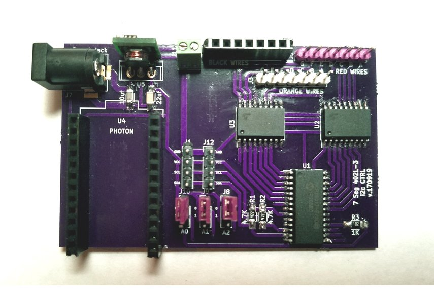 Sig7Seg - i2c controller Photon Shield version