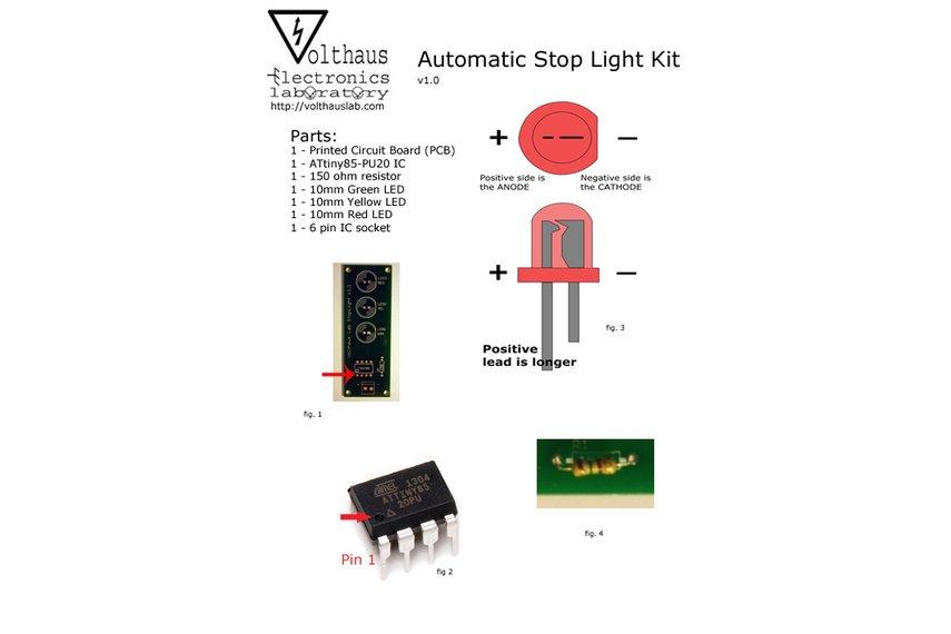 Classic ATtiny85-20PU Stop Light Kit