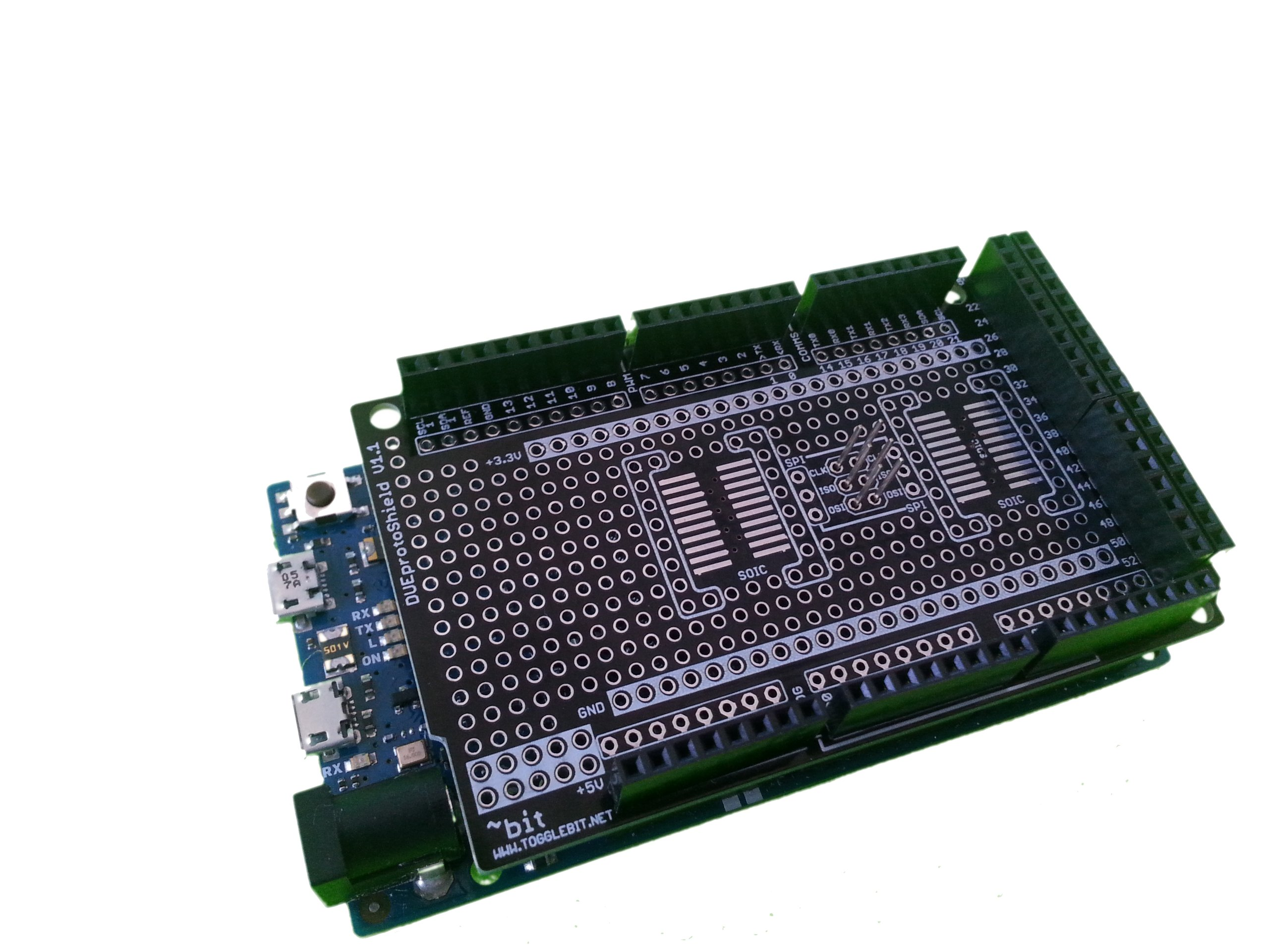 Arduino due protoshield from dkasamis on tindie