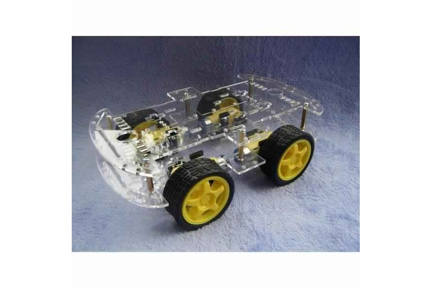 4WD Smart Robot Car Chassis Kit With Strong Magnet
