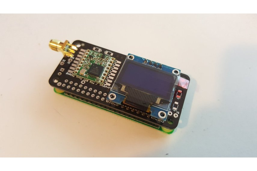 Raspberry PI0W Lora Shield with I2C and OLED