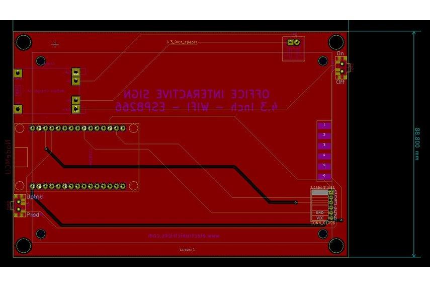 High Tech E-paper IoT door sign