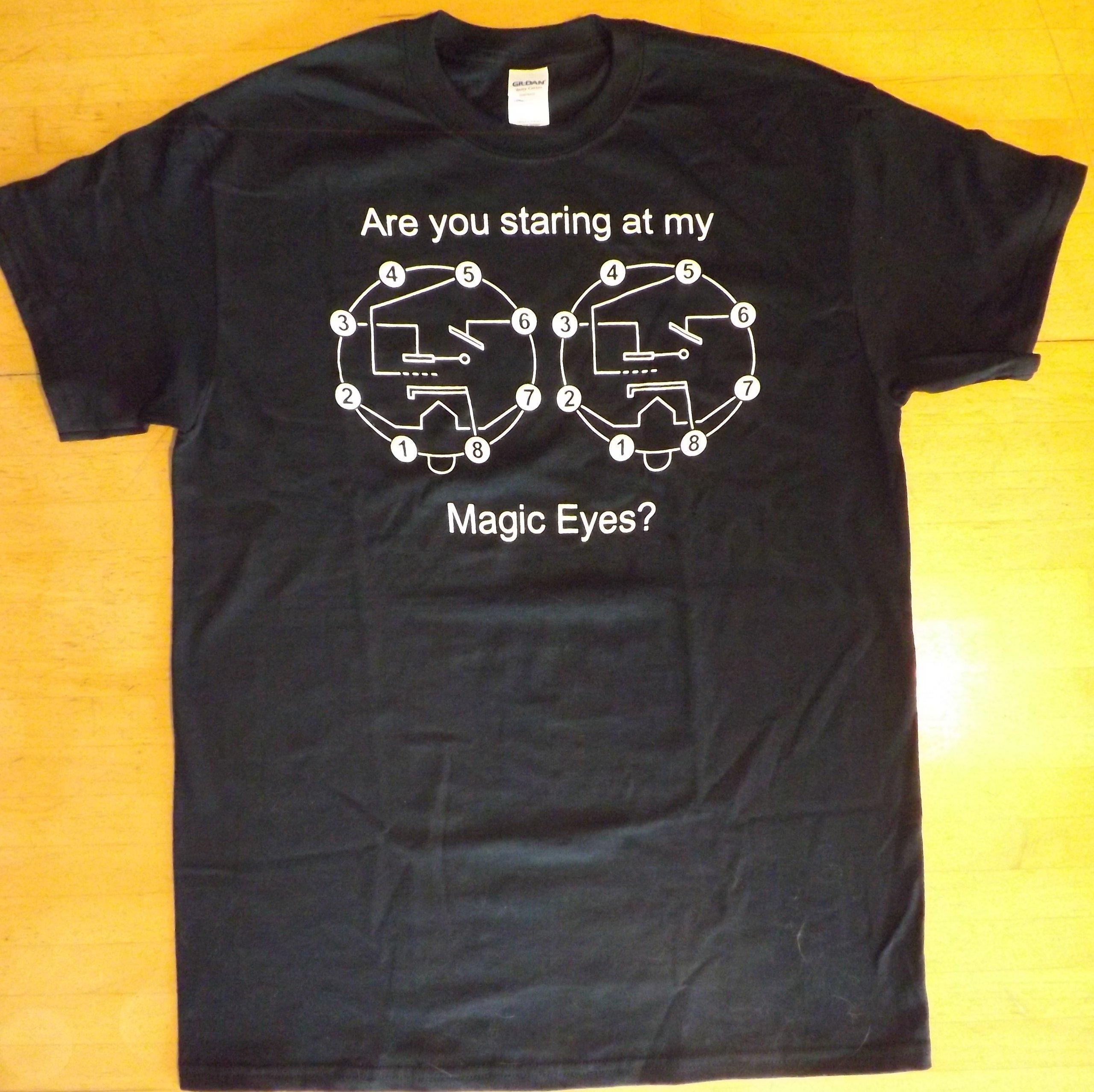 Black t shirt pic - Magic Eye Vacuum Tube Black T Shirt