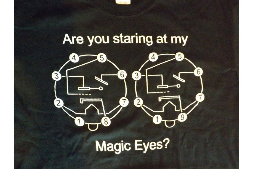 Magic Eye Vacuum Tube Black T-Shirt