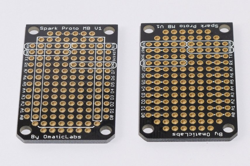 Five Pack of Protoboard for SparkCore