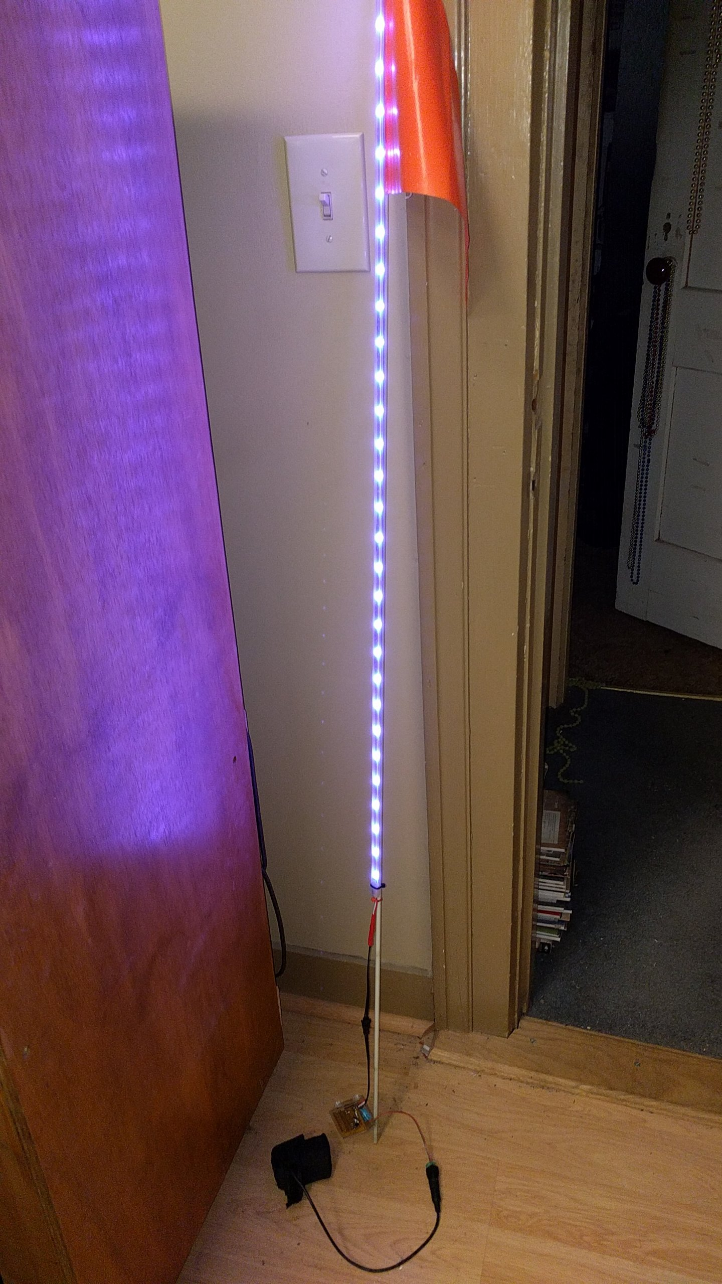 Pixel Pole Bicycle Flagpole Light From Gritz On Tindie