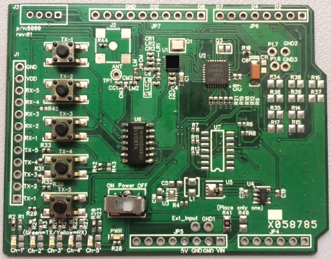 Arduino uno shield remote control transmitter from