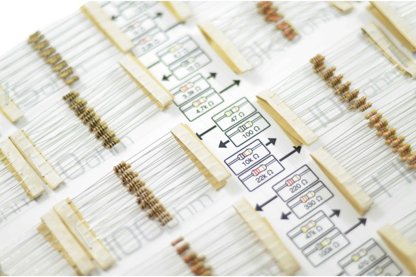 Set of 1/4W resistors - total 400 pieces
