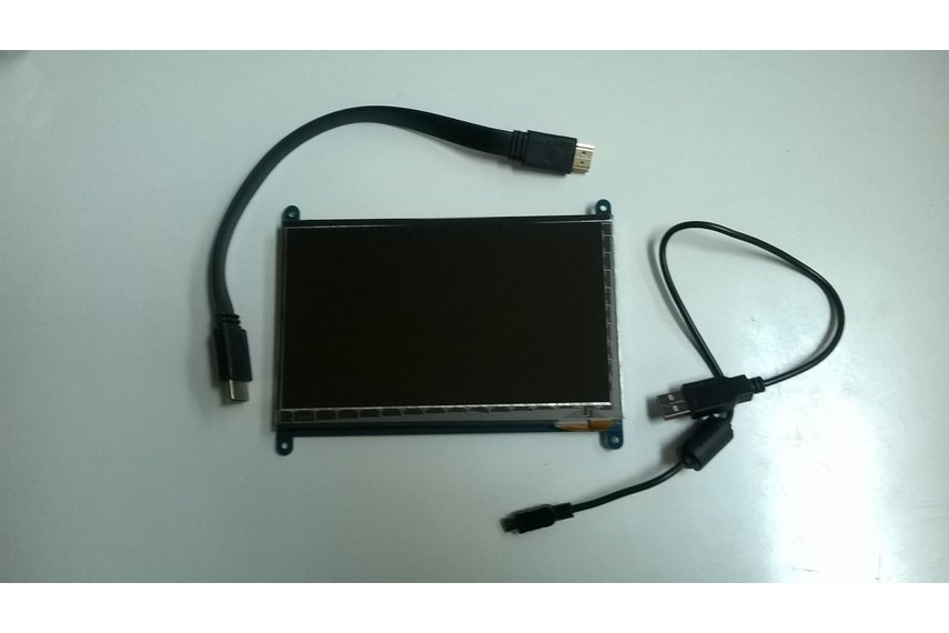 "LCD case and 7"" TouchScreen  for Raspberry Pi"