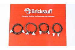 Extension Cables (Varying Lengths) for the Brickstuff LEGO® Lighting System (4-Packs)