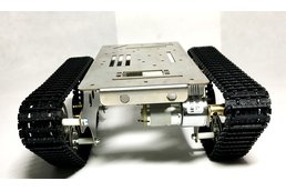 rc stainless stell metal tank chassis
