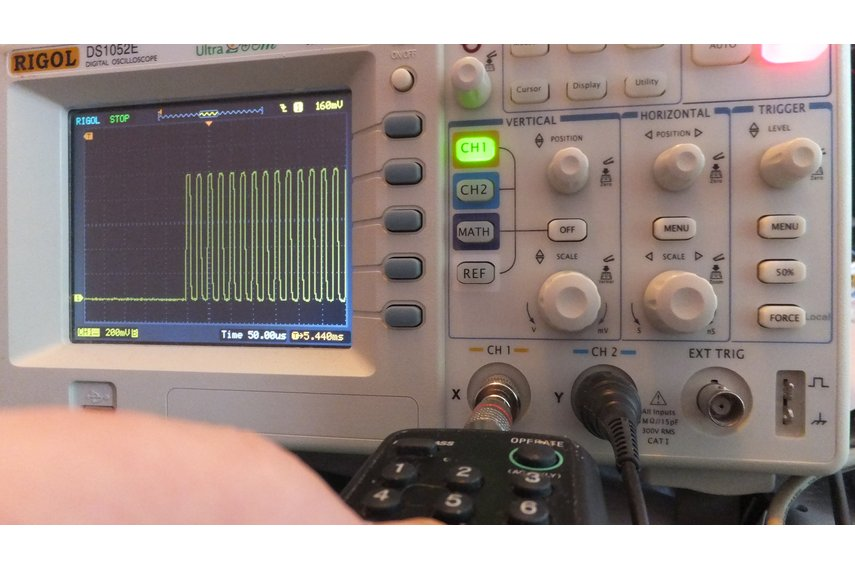 'Silver bullet' – Oscilloscope Infrared Receiver