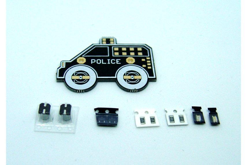 LED SOLDER KIT - Police car
