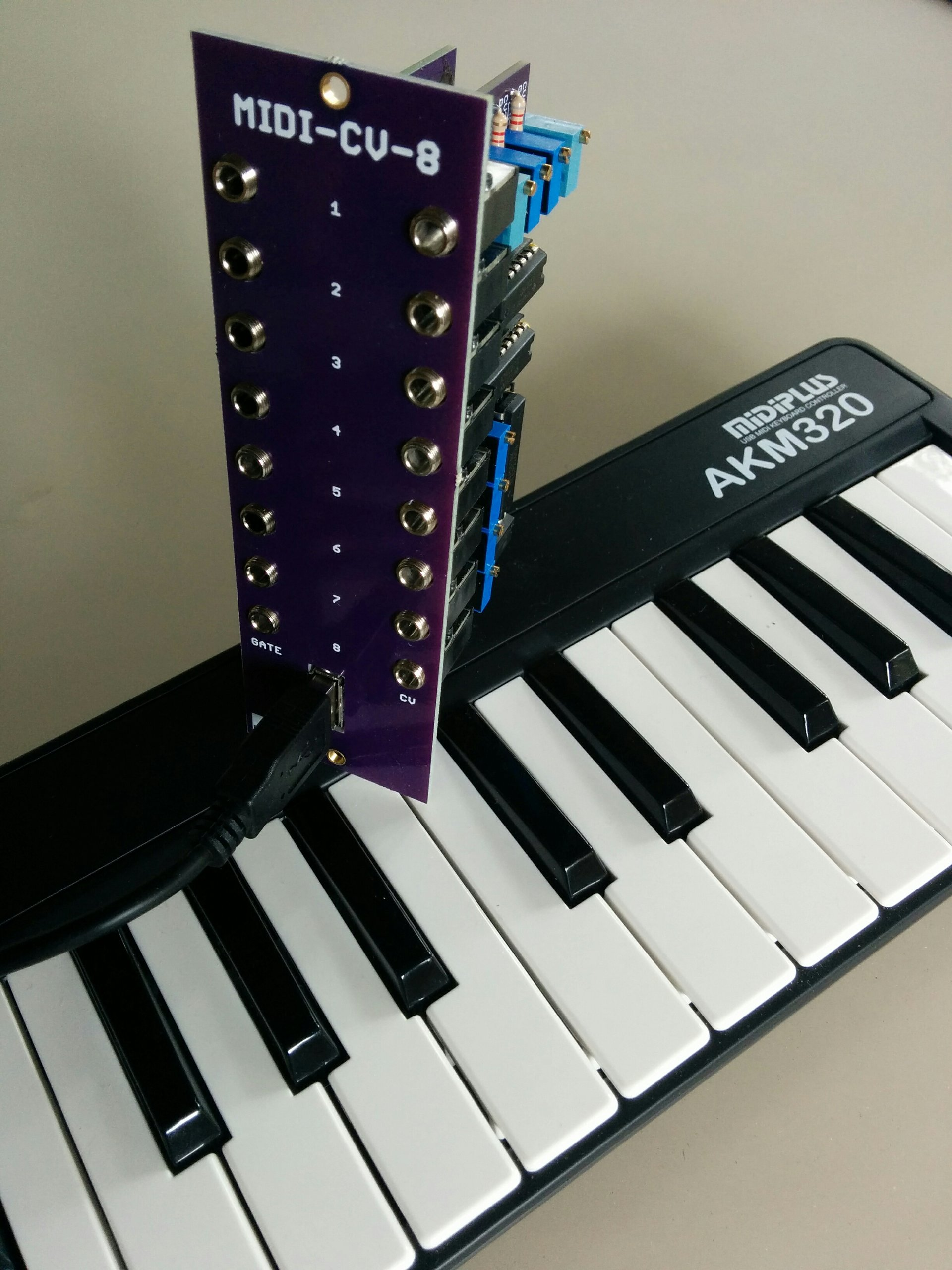 midi usb keyboard controller eurorack pcb set from pmfoundations on tindie. Black Bedroom Furniture Sets. Home Design Ideas